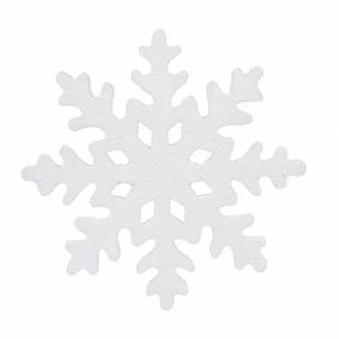 1x grote decoratie/hangdecoratie ijsbloemen/kerst sneeuwvlokken 50 cm