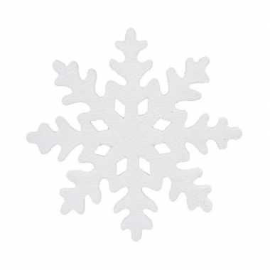 1x grote witte ijsbloemen/kerst sneeuwvlokken kerstversiering/kerstdecoratie 25 cm