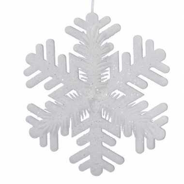 1x grote witte kerst sneeuwvlokken kerstversiering/kerstdecoratie 50 cm