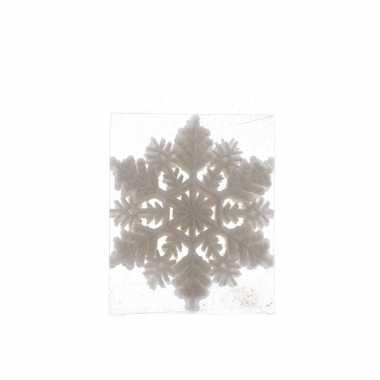1x kerstversiering kerst sneeuwvlok kersthanger wit 10 cm
