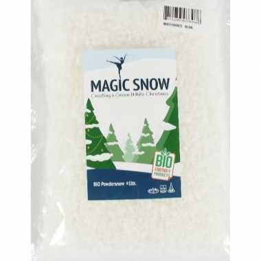 1x zakje milieubewust biologisch kunstkerst sneeuw poeder fijn 1 liter