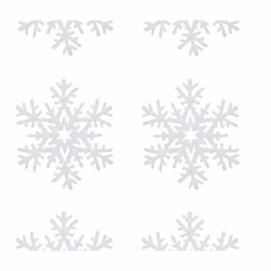2x kerst sneeuwversiering hangdecoratie slingers met kerst sneeuwvlokken 180 x 20 cm