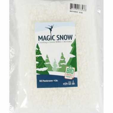 2x zakjes milieubewust brandvertragend kunstkerst sneeuw grof 1 liter