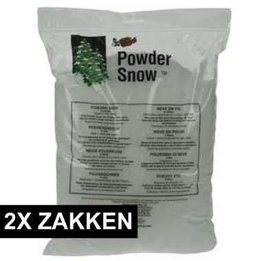 2x zakken kunstkerst sneeuw poeder 4 liter