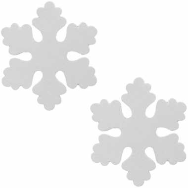 3x witte decoratie kerst sneeuwvlok van foam 40 cm