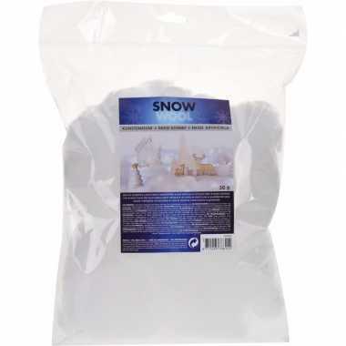 4x zakjes grote kerst sneeuwvlokken 50 gram