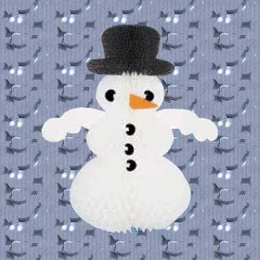 Decoratie kerst sneeuwpop