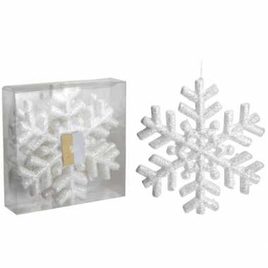 Glitter kerst sneeuwvlok 3 stuks 20 cm