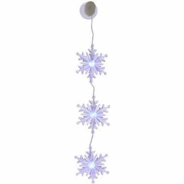 Kerst decoratie kerst sneeuwvlok slinger type 3 met led verlichting