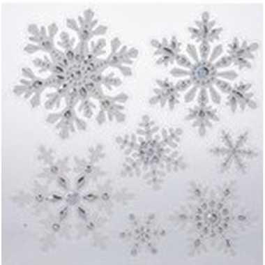 Kerst decoratie raamstickers kerst sneeuwvlok/ijsster 31 x 39 cm
