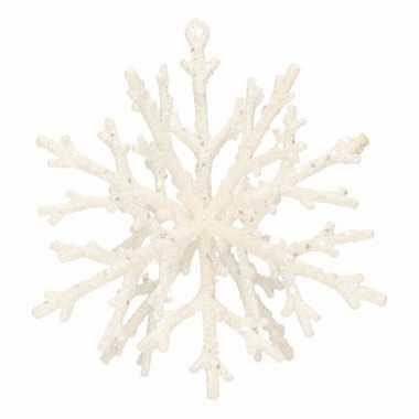 Kerst hangdecoratie kerst sneeuwvlok hanger 18 cm
