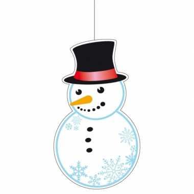 Kerst kerst hangdecoratie kerst sneeuwpop 41 cm