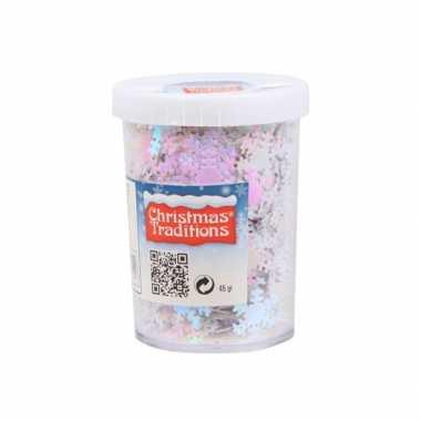 Kerst kerst sneeuwvlokken confetti parelmoer