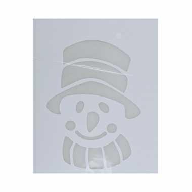 Kerst raamsjabloon kerst sneeuwpop type 2 35 cm