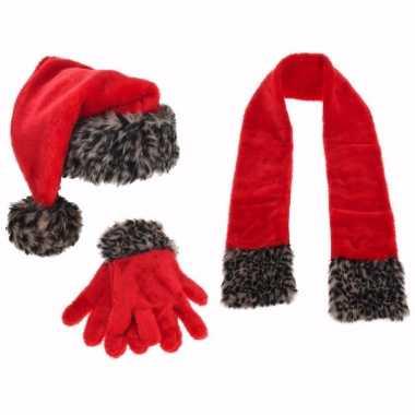 Kerst sneeuwpop aankleedset 3 delig