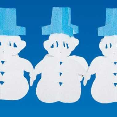 Kerst sneeuwpop versiering slinger