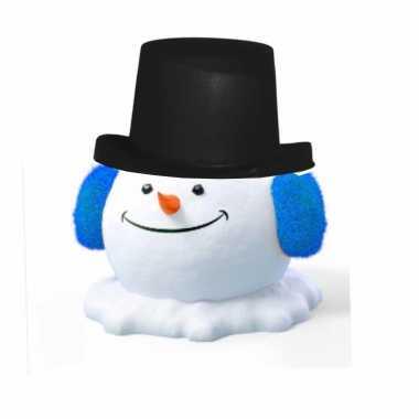 Kerst sneeuwpop zwarte hoge hoed