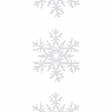 Kerst sneeuwversiering hangdecoratie slingers met kerst sneeuwvlokken 180 x 20 cm