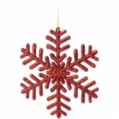 Kerst sneeuwvlok decoratie rood 14 5 cm type 1 kerst - Type decoratie ...