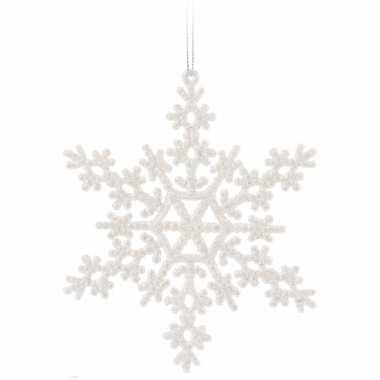 Kerst sneeuwvlok decoratie wit 14,5 cm type 2