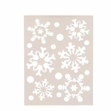 Kerst sneeuwvlokken sjabloon 21 x 30 cm