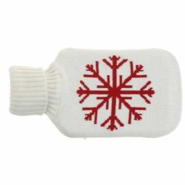 Kerst witte kruik met kerst sneeuwvlok