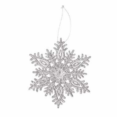 Kersthanger kerst sneeuwvlok zilver glitter type 3