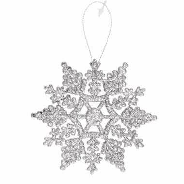 Kersthanger kerst sneeuwvlok zilver type 2