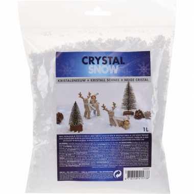 Kristal kerst sneeuwvlokken 1 liter