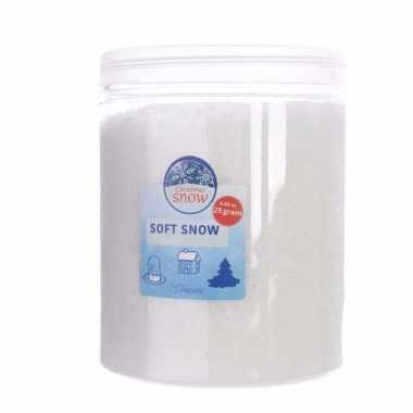 Kunstkerst sneeuw/ nepkerst sneeuw in pot 75 gram