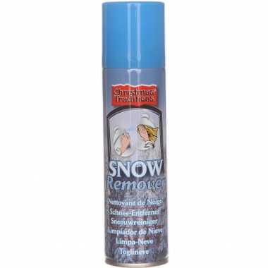 Kunstkerst sneeuw/nepkerst sneeuw verwijderaar/reinigingsspray in bus 125 ml