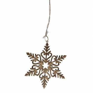 Metalen kerst sneeuwvlok hanger