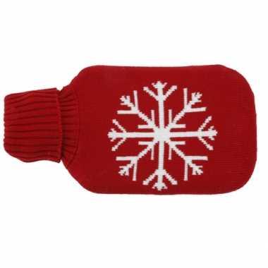 Rode kruik met kerst sneeuwvlok