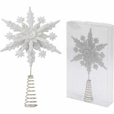 Witte kerstboom piek kerst sneeuwvlok
