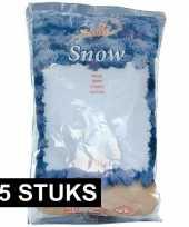 15x zakken kunst kerst sneeuwvlokken 4 liter