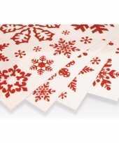 Kerst decoratie raamstickers rode kerst sneeuwvlokken