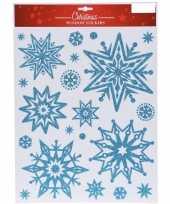 Kerst raamstickers raamdecoratie kerst sneeuwvlok plaatjes 30 x 40 cm 10137820