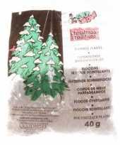 Kerstboom versiering glitter kerst sneeuwvlokjes 40 gram