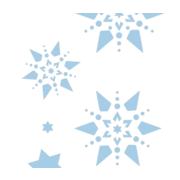 3x kerstboom versiering glitter kerst sneeuwvlokjes 40 gram